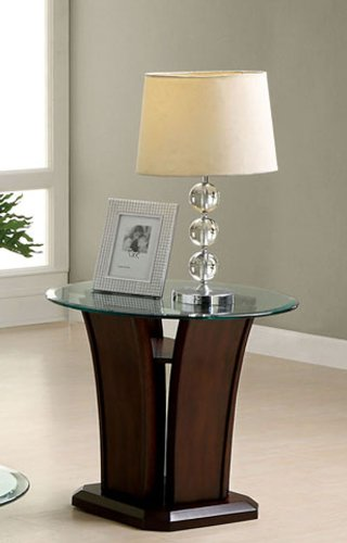 247SHOPATHOME IDF-4104E end-Tables, Walnut