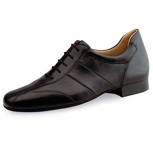 Werner Kern Hombres Zapatos de Baile 28021 - Cuero Negro - 2 cm Ballroom