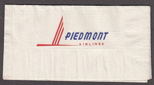 "Piedmont Airlines airline paper napkin 1960s unused 3 3/8 x 6 1/2"""