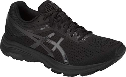 ASICS GT-1000 7 Women's Running Shoe, Black/Phantom, 7.5 M US