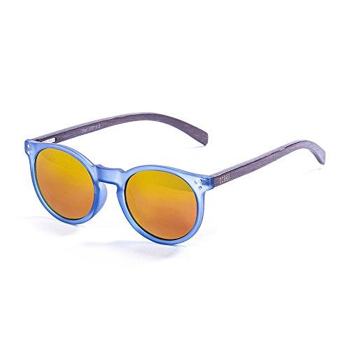 9acb78e64c Ocean Sunglasses Lizard Lunettes de soleil Blue Transparent Frame/Wood Dark  Arms/Revo Red ...