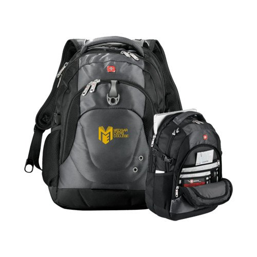 Medgar Evers Wenger Swiss Army Tech Charcoal Compu Backpack 'Official Logo' by CollegeFanGear