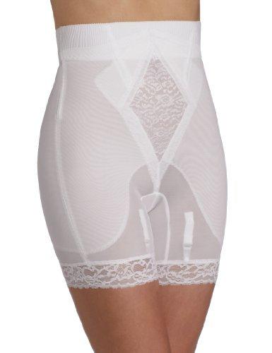 - Rago Women's Plus-Size Hi Waist Long Leg Shaper, White, 3X-Large (36)