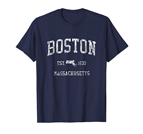 Boston T-Shirt Vintage Sports Design Boston Massachusetts - Womens T-shirt Boston