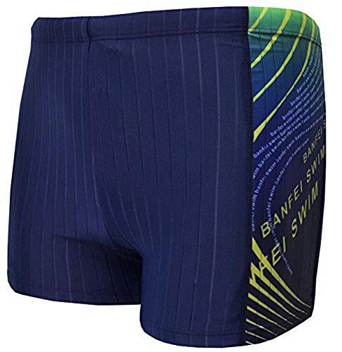 efb7c90635 Vocni Men's Solid Fashion Jammer Rapid Quick Dry Square Leg Swimsuit  Swimwear For Men,Dark Blue,Medium (Waist 30