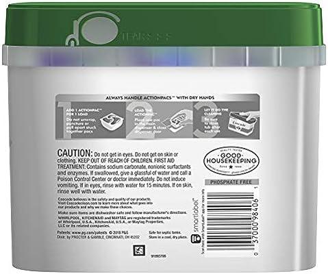 Amazon.com: Cascade Platinum ActionPacs + Oxi, detergente ...