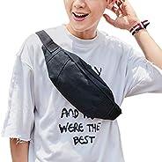 Large Black Waist Bag Fanny Pack For Men Women Belt Bag Pouch Hip Bum Bag Chest Sling Bag With Adjustable Stra