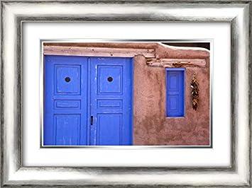 Amazoncom New Mexico Santa Fe Blue Door And Window 24x17