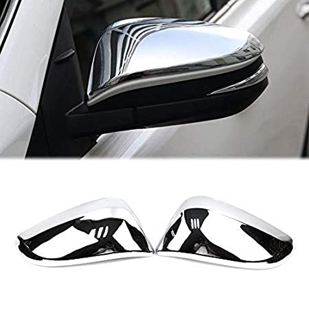 DeAutoBug ABS Chrome Finish Side Rearview Wing Mirror Decoration Trim for Toyota RAV4 2016 2017 with RAV4 Logo