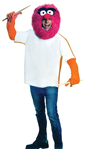 Muppets Animal Costume (The Muppets Animal Costume, Red, One Size)