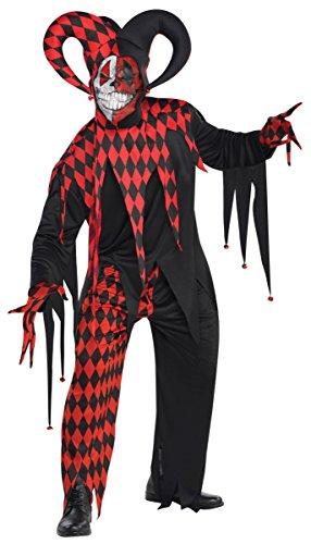 Jingles The Jester Clown Costumes (Children's Krazed Jester Costume Size X Large (14-16))