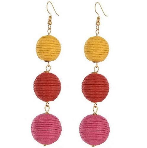 Waldenn New Styles Women Ladies Girls Boho Long Earrings Party Holiday Fashion Jewellery | Model ERRNGS - 9611 -