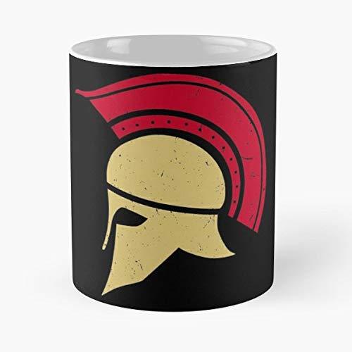 (Roman Helmet Armour Galea Funny Floral Coffee Mugs)