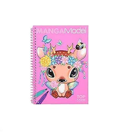 Depesche 6582 – Pocket libro para colorear Modelo Manga, Surtido: Modelos Aleatorios