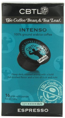 Cbtl Intenso Espresso Capsules .65 Cents a Cup!! - 10 Boxes of 10 Coffee, Bean, and Tea Leaf. 100 Count by Coffee Bean & Tea Leaf