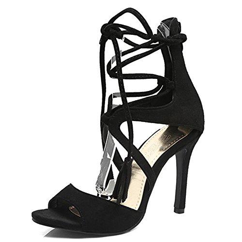 Fashion HeelSandals - Puntera abierta mujer negro