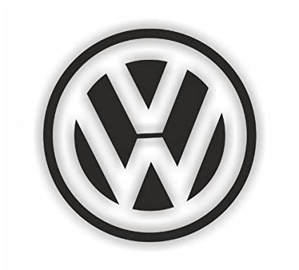 Sea view stickers vw circle logo car sticker black amazon co uk car motorbike