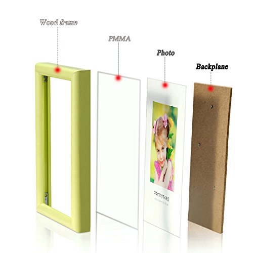 Bojin 8x10 Inch Picture Frames Plastic Table Top Photo Frame 20x25 Cm Yellow Home Garden Decor