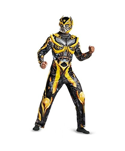 Transformers Age of Extinction Bumblebee Mens Costume deluxe (Adult Transformers Costume)