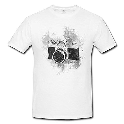 Vintage Camera T-Shirt Herren, Men mit stylischen Motiv von Paul Sinus