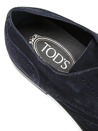 Tod's XXM0RQ00C10RE0U805 Camoscio Stringate Blu Uomo TPqRHT