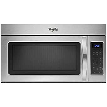 Whirlpool WMH31017FS 1.7 Cu. Ft. Over-The-Range, Combination Microwave Oven, Stainless Steel, 1000 Watt