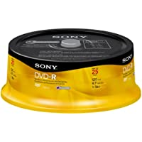 Sony 25DMR47RS4 16x DVD-R Recordable 25 Disc Spindle (Discontinued by Manufacturer)
