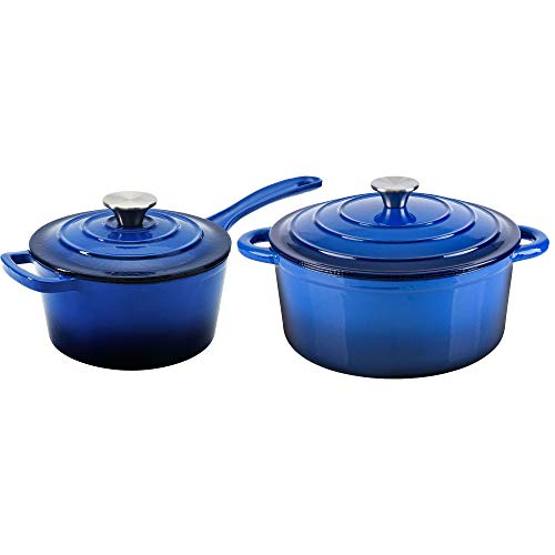 blue 5 quart dutch