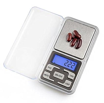 Znyo Mini balanzas Digitales LCD portátiles báscula de gramo de Peso de Hierbas medicinales, 0.01
