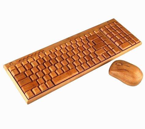 Juego de teclado y Ratón de Bambú