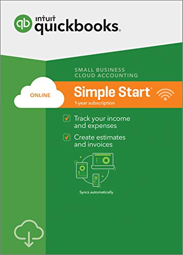 QuickBooks Online Simple Start 2019, 1 Year Subscription [PC/Mac Online Code] [PC Download]