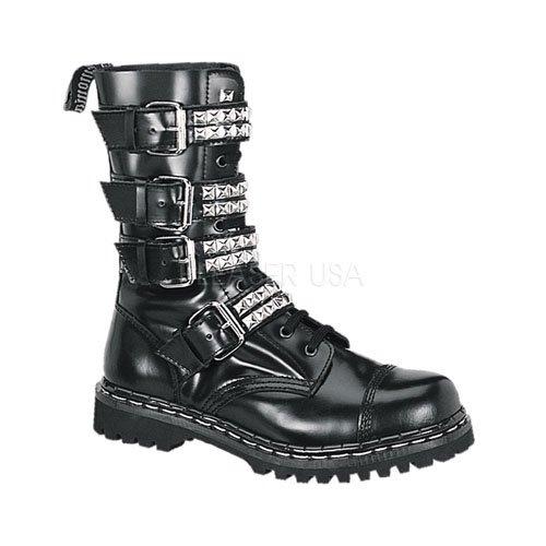 Demonia Gravel-10S - gothique punk ranger bottes chaussures unisex 36-46, US-Herren:EU-36 (US-M4)