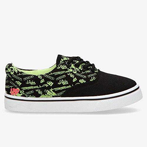 Global Eye Wear Motley-Kids - Zapatillas de skateboarding unisex, color Noir (Black/Cobalt), talla 36