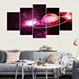 Waterfall Crimson Satellite - Cascade Red Planet Wall Painting Picture Home Decoration Frame Including Installat - Cerise Marxist Red-Faced Reddened Ruby Pinko Aflame - 1PCs