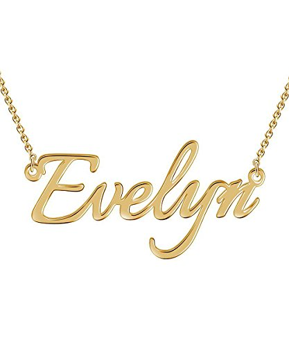 Hybedora Custom Name Necklace, Handmade Personalized Name Necklace Pendant Jewelry Gift for Women ()