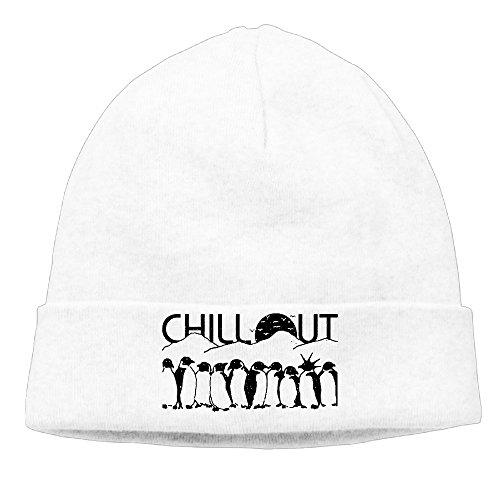 Pingüinos Chill Out Retro gorro Blanco