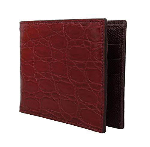 Dolce & Gabbana Shoe Bag - Dolce & Gabbana Bordeaux Caiman Alligator Bifold Wallet