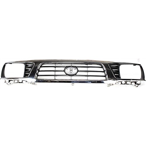 Evan-Fischer EVA17772010309 Grille for Toyota Tacoma 95-97 Chrome Shell/Painted-Black Insert 4WD 1996 Toyota Tacoma Grille