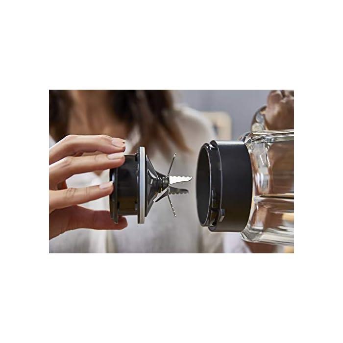 3 programas selector de la Velocidad retroiluminable Vaso de Cristal Modo Manual y autoclean Moulinex Mix+ LM811D10 Batidora de Vaso de 2 litros y 1200 W Accesorio Botella Go de Regalo
