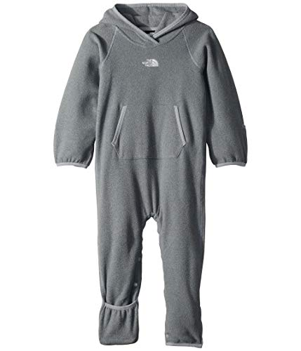 The North Face Kids Unisex Glacier One-Piece (Infant) TNF Medium Grey Heather 3-6 Months - Infant Big Face