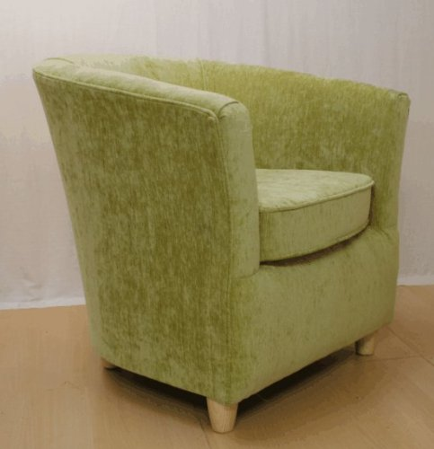 tub chair fabric armchair olive green amazon co uk kitchen home