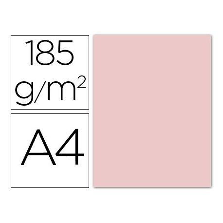 Canson Iris Vivaldi A4 185 GSM Smooth Colour Paper - Rose Petal (Pack of 50 Sheets)