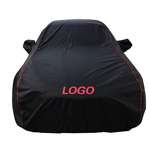 (BAOYUANWANG Chezhao (Applicable to Mitsubishi) Black red line Custom Version Outdoor car Cover Oxford Cloth Four Seasons Universal car Clothing (Sun Protection/Snow/dust/Scratch) (Color :)