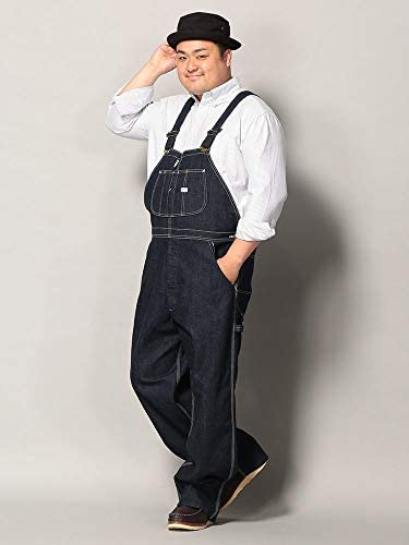 サカゼン Lee 大きいサイズ メンズ デニム ワンウォッシュ ロング オーバーオール