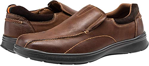 Pictures of JOUSEN Men's Loafers Leather Casual Slip On Shoes varies 3