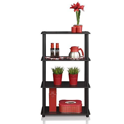 - Furinno (99557EX/BK) Turn-N-Tube 4-Tier Multipurpose Shelf Display Rack - Espresso/Black