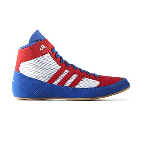 (adidas Havoc Mens Adult Wrestling Trainer Shoe Boot Red/White/Blue - US 12)