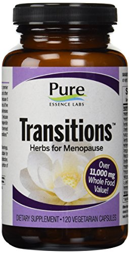 Transitions - Herbs For Menopause By Pure Essence Labs - 120 Vegetarian (Capsules Herbs Supplements)