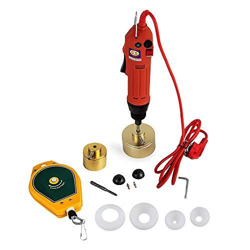 ETE ETMATE Electric Machine Cap Sealer Sealing Manual Bottle Capping Machine 10-50mm Capping Diameter Bottle Capper Sealer Screwing (110V)