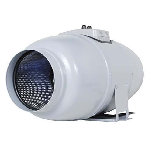 "Inline Duct Fan ""Silent Series"" 6 Inch, 327 CFM, 67W, Ultra Quiet Sound lnsulated HVAC Vent and Grow Room Exhaust Blower with Speed Controller and Autopilot, Made in Germany, 33 dBA, 13.89 Lb"